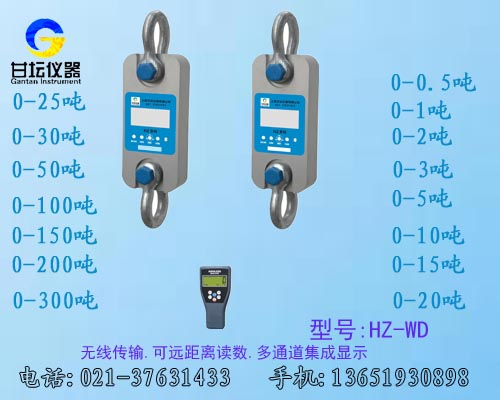 精密防水50吨拉力表.标准50t测压力计(无线传输300米)